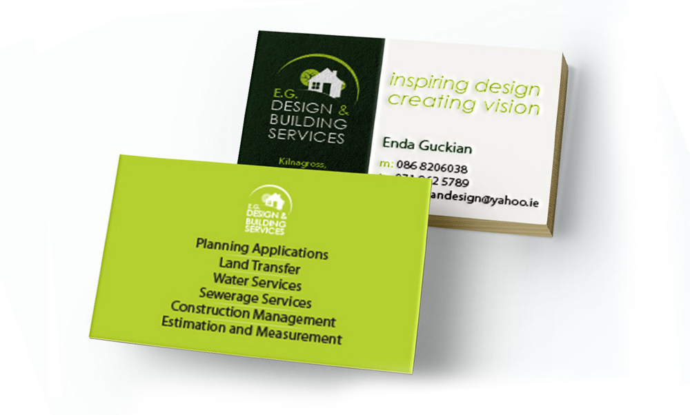 F G Design Building Services Business Card