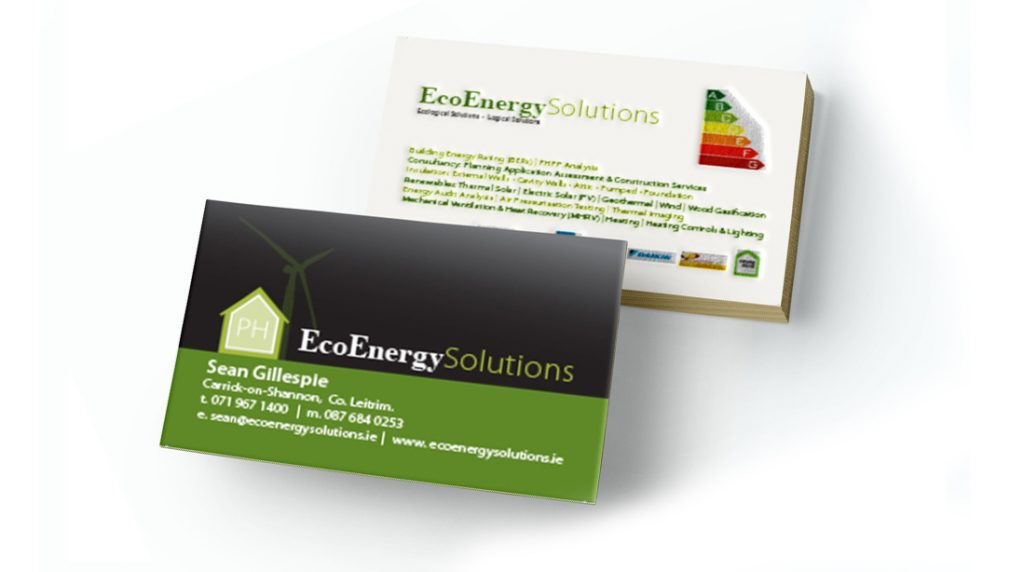 Eco energy solutions business card dpsprint eco energy solutions business card reheart Images
